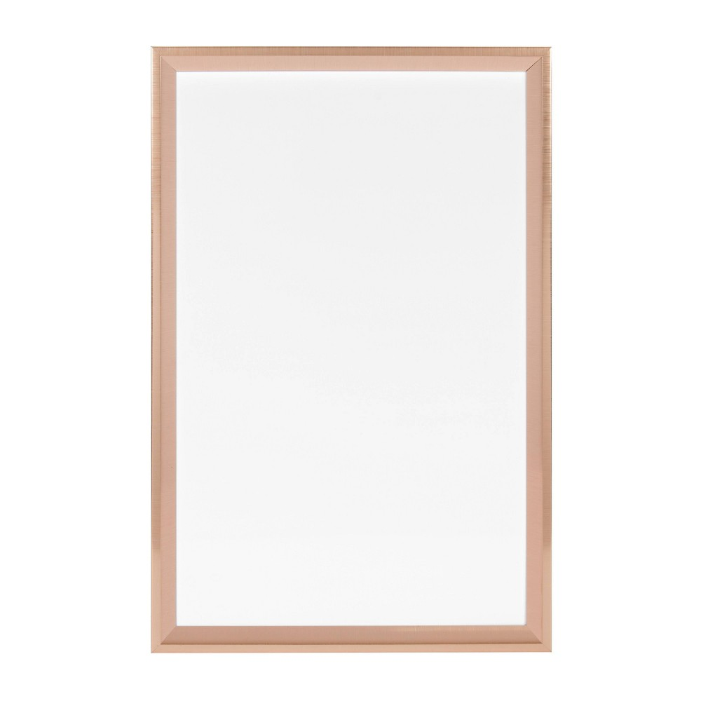 """Image of """"15"""""""" x 24"""""""" Calter Magnetic Dry Erase Rose Gold - Kate and Laurel, Pink"""""""