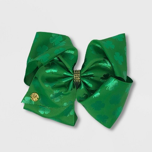 Girls' JoJo Siwa Clover Bow - Green - image 1 of 1
