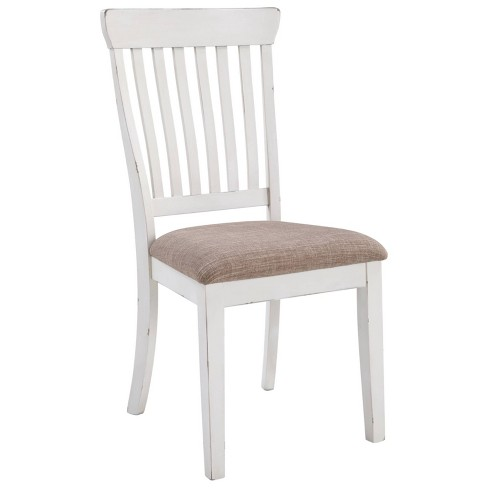 Set of 2 Danbeck Dining Upholstered Side Chair Chipped White - Signature Design by Ashley - image 1 of 4