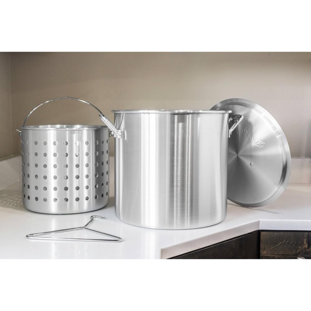 Image of Camp Chef 24qt Aluminum Cooker Pot - Silver