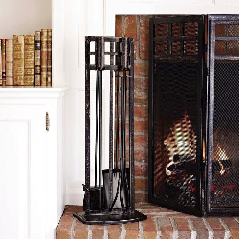 Fireplace Toolset - Matte Black Finish - Threshold™ - image 1 of 1