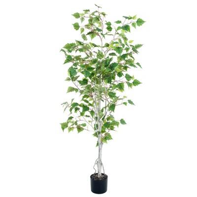 Pure Garden 5ft Birch Artificial Tree