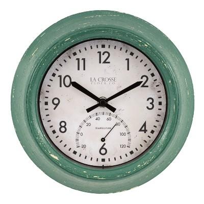 """9"""" Indoor/Outdoor Clock with Temperature - La Crosse Technology"""