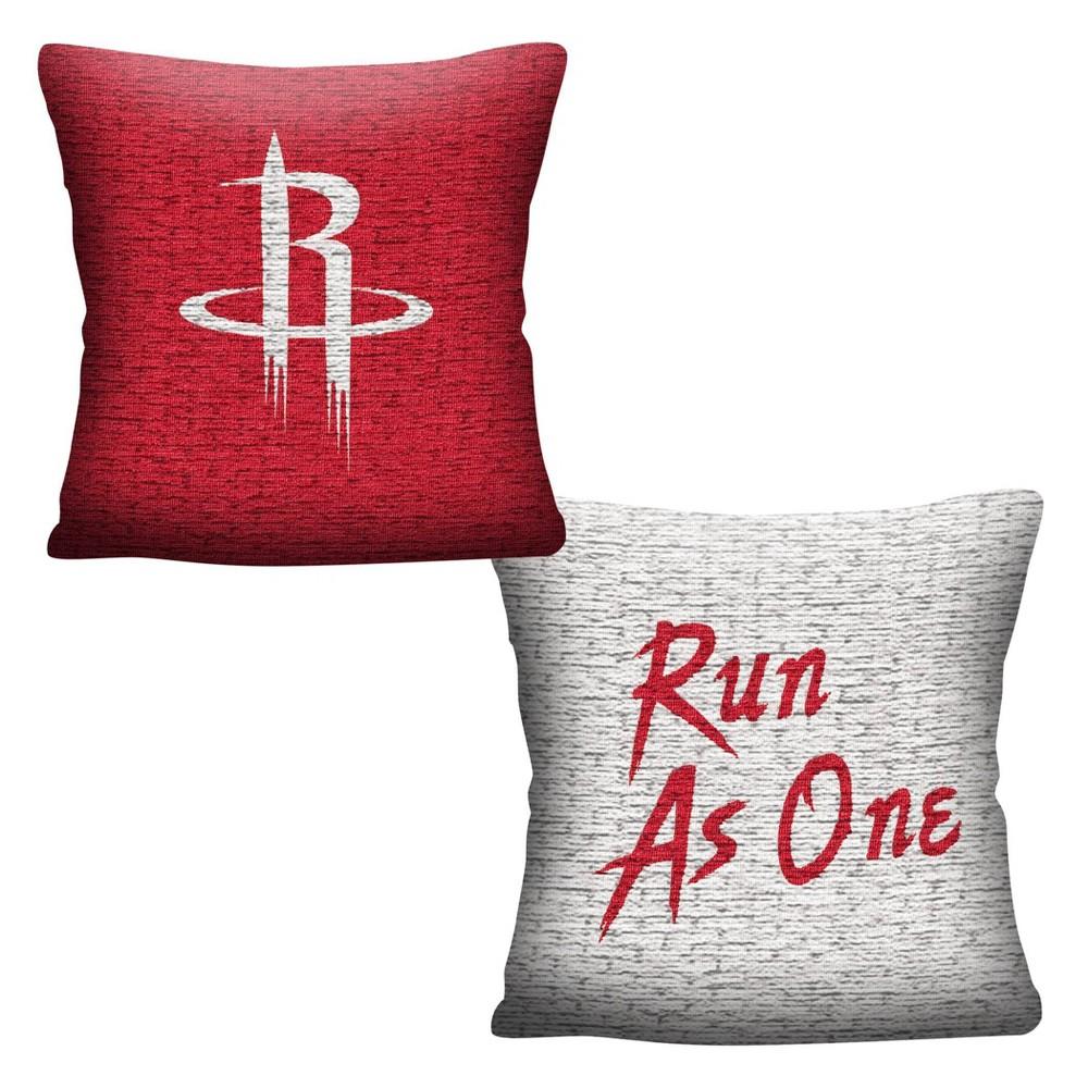 Nba Houston Rockets Inverted Woven Pillow