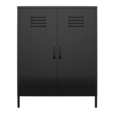 RealRooms Shadwick 2 Door Metal Locker Storage Cabinet