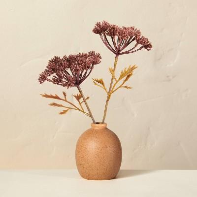"Small 8.5"" Faux Bleached Purple Achillea Flower Plant Arrangement - Hearth & Hand™ with Magnolia"