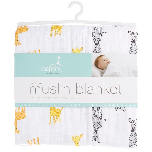 4adb5651c218e Aden® By Aden + Anais® Muslin Blanket - Safari Babes - Giraffe Zebra    Target