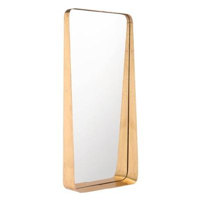 "ZM Home 30"" Modern Rectangular Mirror Gold"