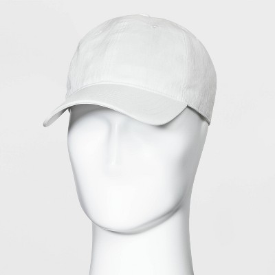 Men's Textured Nylon Baseball Hat - Goodfellow & Co™ White