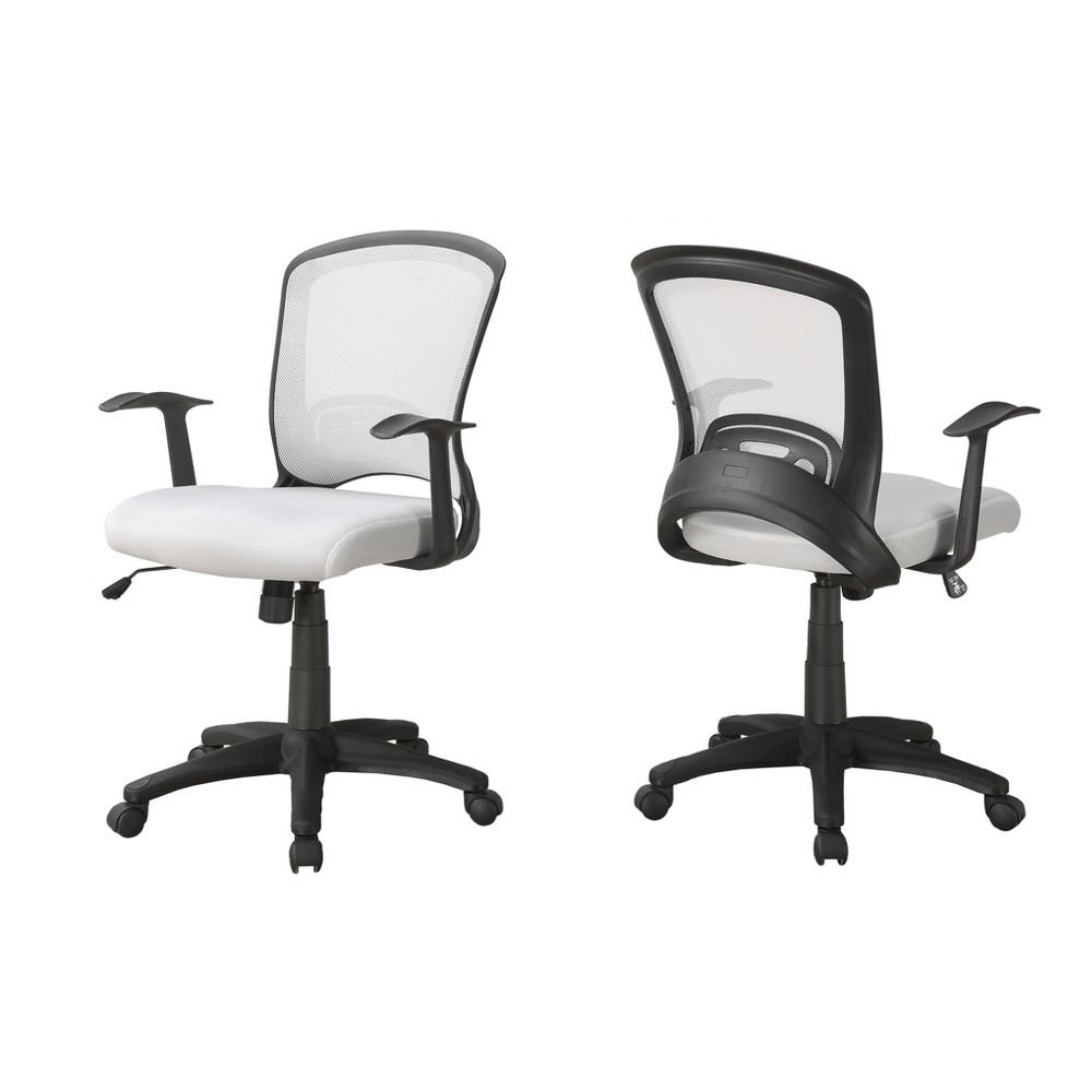 Image of Office Chair - White Mesh Mid-Back - EveryRoom