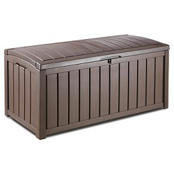 Glenwood 101 Gallon Outdoor Storage Box - Brown - Keter
