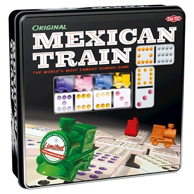 Mexican Train in Tin Box Dominoes Game