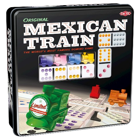 Tactic Mexican Train in Tin Box Dominoes Game - image 1 of 5