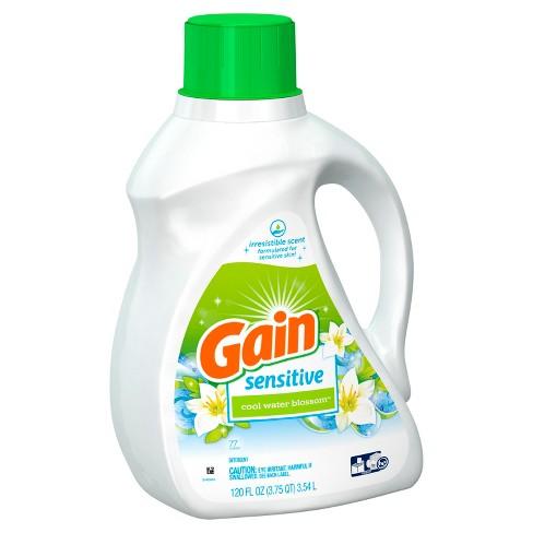 Gain Cool Water Blossom Sensitive Liquid Laundry Detergent - 120 fl oz