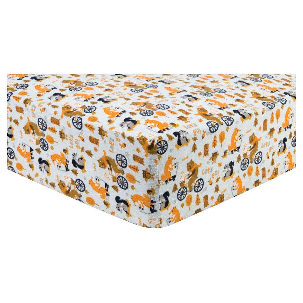 Trend Lab Deluxe Flannel Fitted Crib Sheet - Let's Go