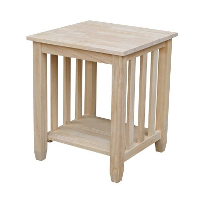 Mission Tall End Table - International Concepts