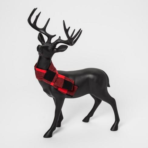 decorative figurine reindeer red scarf black threshold target