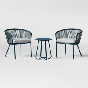 Fisher 3pc Patio Chat Set Blue