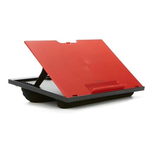 Mind Reader Adjustable 8 Position Laptop Desk With Cushions Red/black :  Target