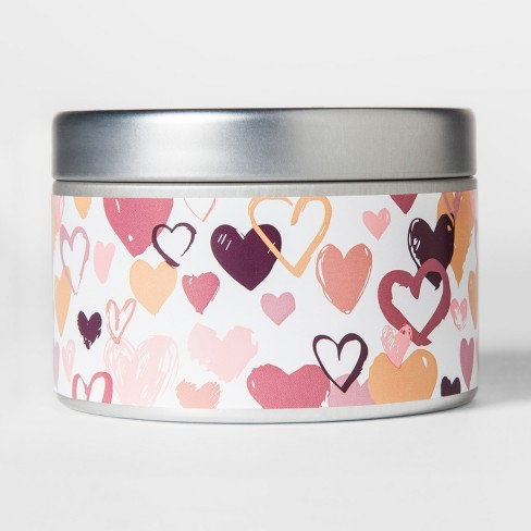 Valentine's Day Tin Candle Cotton Candy 4.1oz - image 1 of 2