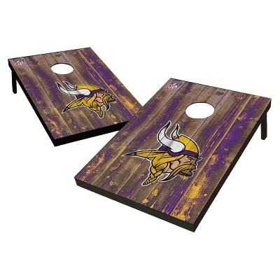 NFL Minnesota Vikings Wild Sports 2'x3' Barnwood Bean Bag Toss