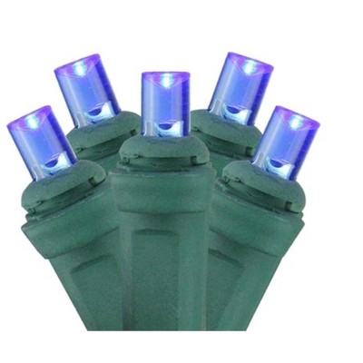 Northlight 150ct Wide Angle LED Net Lights Blue - 4' x 6' Green Wire