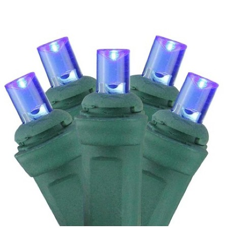 Northlight 150ct Wide Angle LED Net Lights Blue - 4' x 6' Green Wire - image 1 of 4