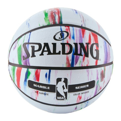 "Spalding Marble 29.5"" Basketball - White - image 1 of 3"