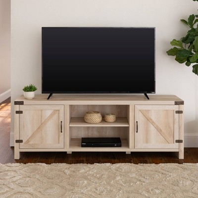 "Modern Farmhouse Barn Door TV Stand for TVs up to 80"" - Saracina Home"