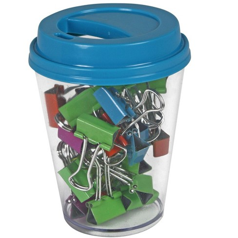 The Pencil Grip Inc Binder Clip in Coffee Cup Supply Storage, Assorted Color, pk of 30 - image 1 of 1