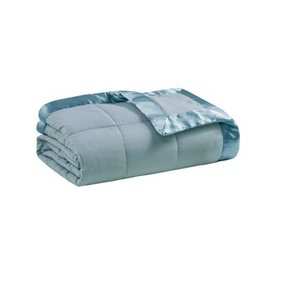 Bed Blanket Prospect All Season Hypoallergenic Microfiber Down Alternative with 3M Scotchgard Finish (Full/Queen)Blue