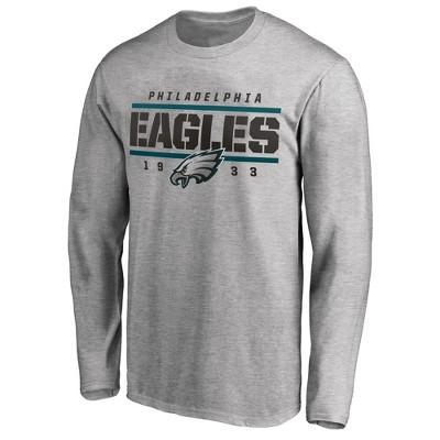 NFL Philadelphia Eagles Men's Long Sleeve Big & Tall T-Shirt Gray