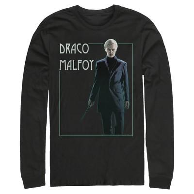 Men's Harry Potter Draco Malfoy Simple Framed Portrait Long Sleeve Shirt