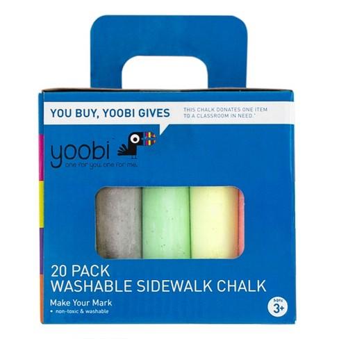 Yoobi™ Washable Sidewalk Chalk - 20pc - image 1 of 2