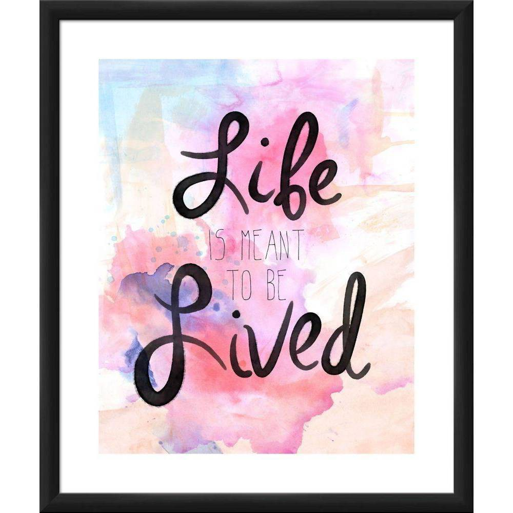 "Image of ""18"""" x 22"""" """"Life is Meant to be Lived"""" Wall Art - PTM Images"""