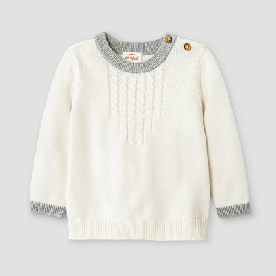 Baby Cable Pullover Sweater - Cat & Jack™ Cream 12M