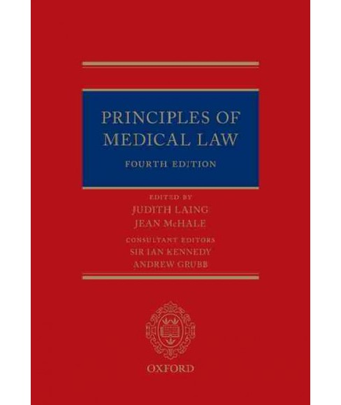 Principles of Medical Law (Hardcover) - image 1 of 1