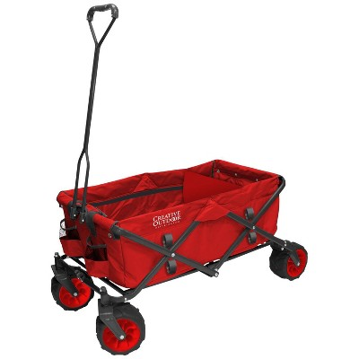 Creative Outdoor Distributor All Terrain Folding Wagon - Red