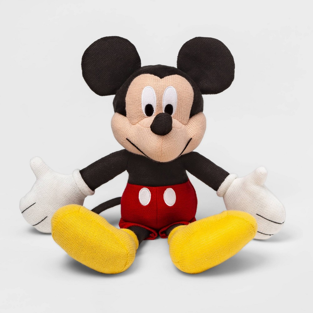 Image of Mickey Mouse & Friends Mickey Mouse Buddy Knit Throw Pillow Red, Red Black