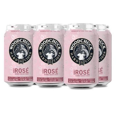 Woodchuck Bubbly Rosé Blush Hard Cider - 6pk/12 fl oz Cans