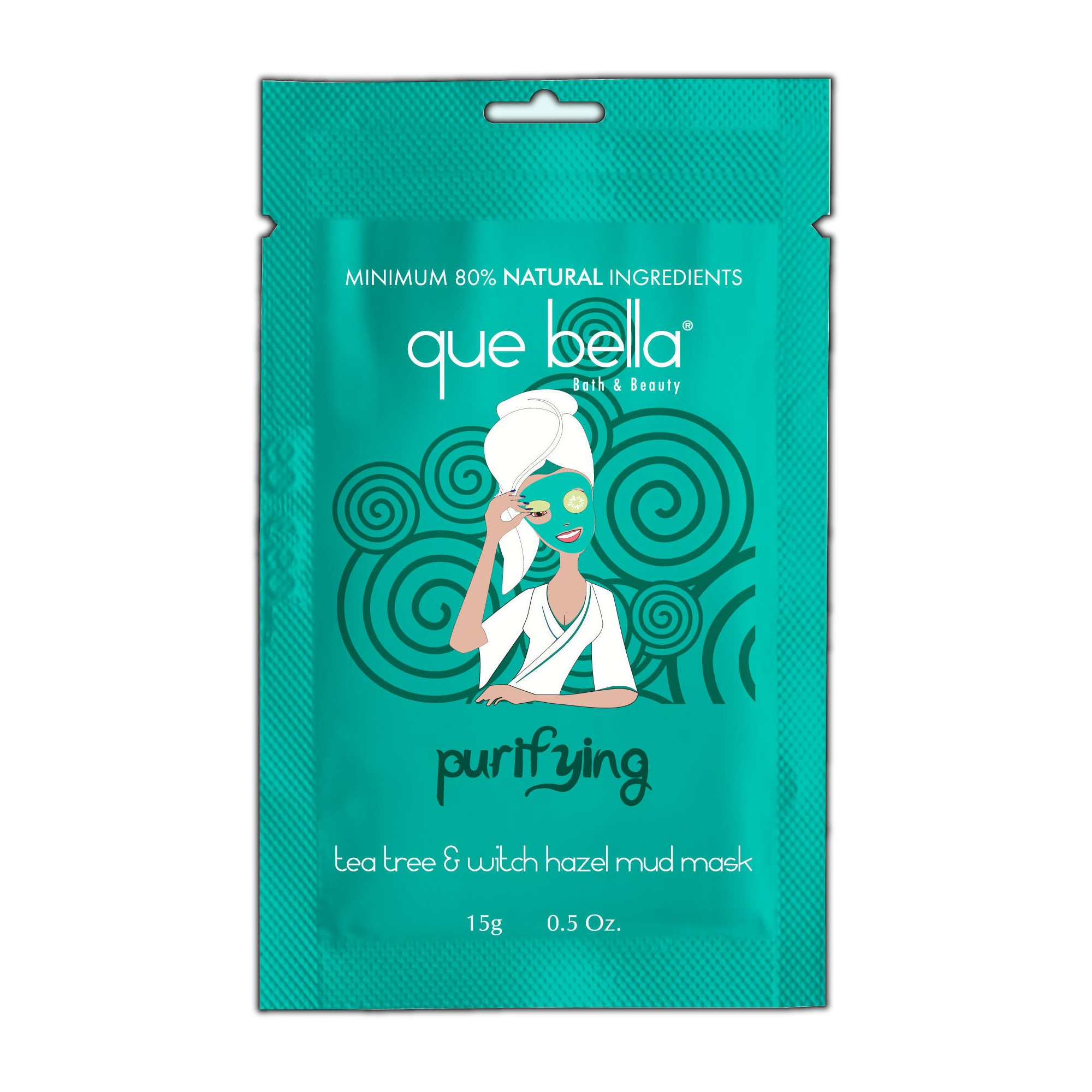 Que Bella Purifying Tea Tree and Witch Hazel Mud Face Mask - 0.5oz