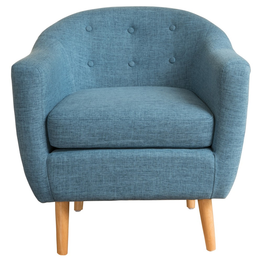 Naveen Club Chair - Muted Blue - Christopher Knight Home