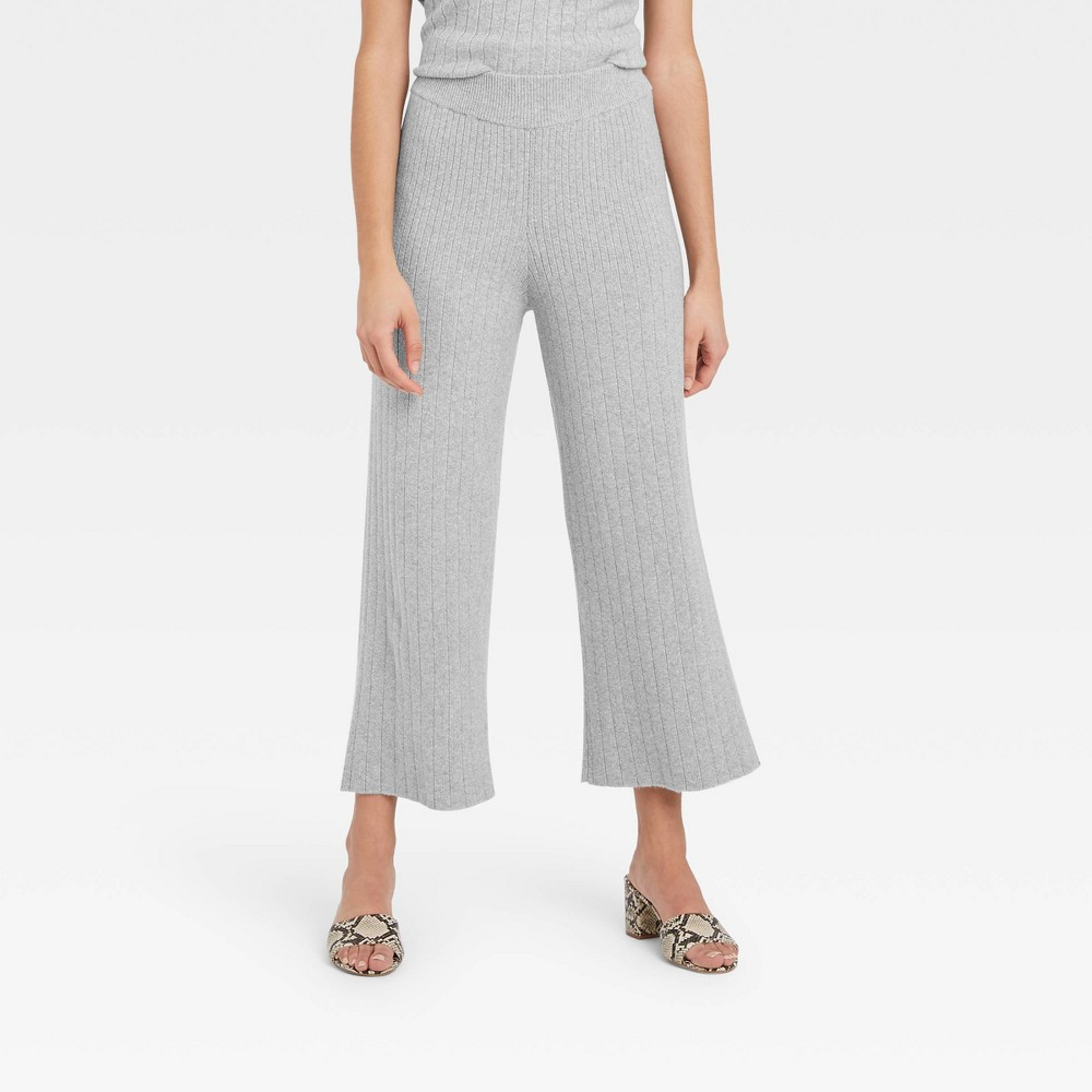 70s Clothes | Hippie Clothes & Outfits Womens High-Rise Wide Leg Lounge Pants - Who What Wear Gray XXL $32.99 AT vintagedancer.com