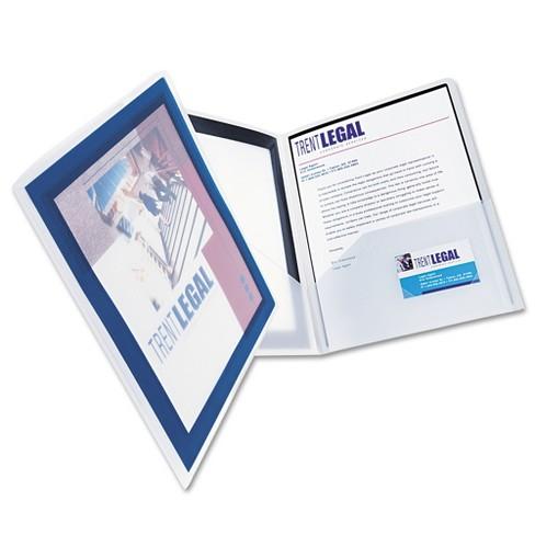 avery flexi view two pocket polypropylene folders navy translucent