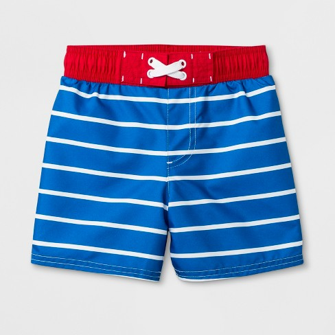 322c337f80 Toddler Boys' Striped Swim Trunks - Cat & Jack™ Blue 4T : Target
