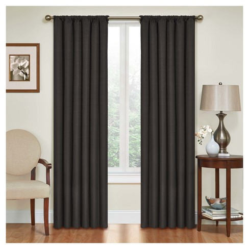 """95""""x42"""" Kendall Thermaback Blackout Curtain Panel Black - Eclipse - image 1 of 3"""