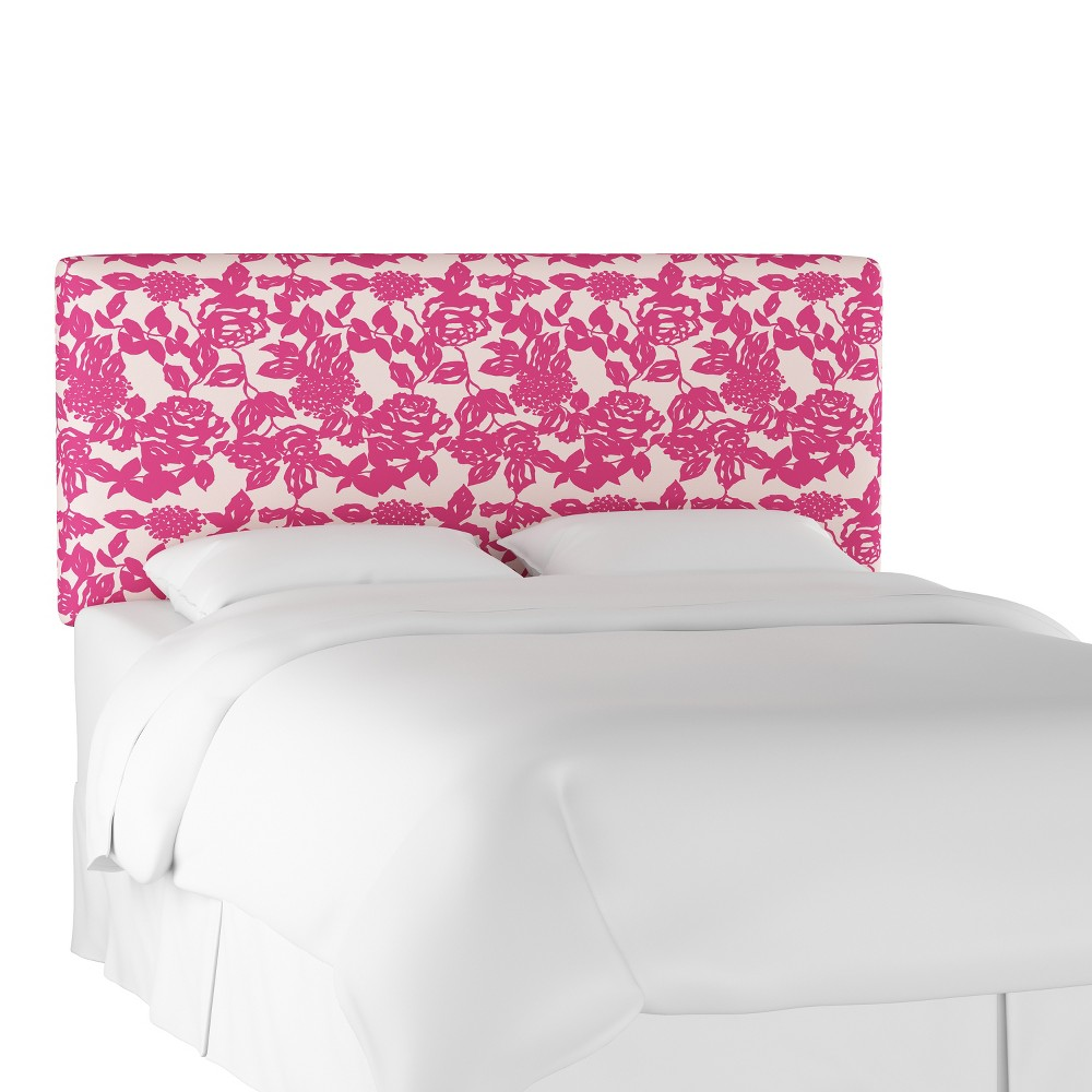 Upholstered Headboard King Abstract Rose Raspberry - Project 62