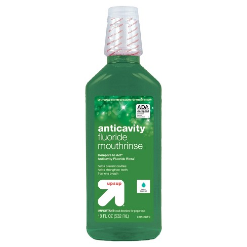 Mouthwash - Mint - 18oz - Up&Up™ (Compare to Act Anticavity Fluoride Rinse) - image 1 of 1