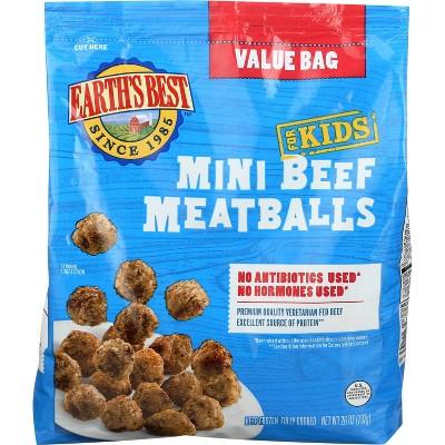 Earth's Best Baked Mini Beef Meatballs - Frozen - 26oz