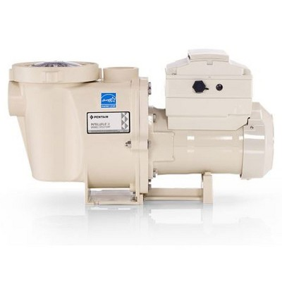 Pentair 011060 IntelliFlo i2 Energy Efficient 230V Variable Speed In Ground Swimming Pool Pump For Systems with Smaller Plumbing